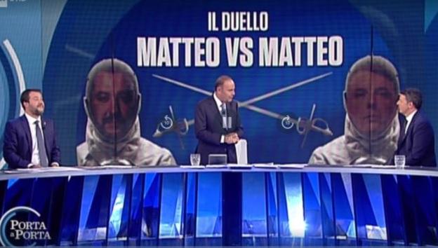 Sfida in TV Salvini Renzi a Porta a Porta 2