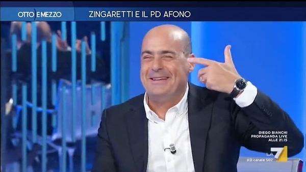 Zingaretti pd afono Otto e mezzo La7
