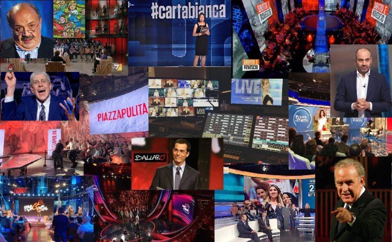Giornalista televisivo Talk Show in Italia collage