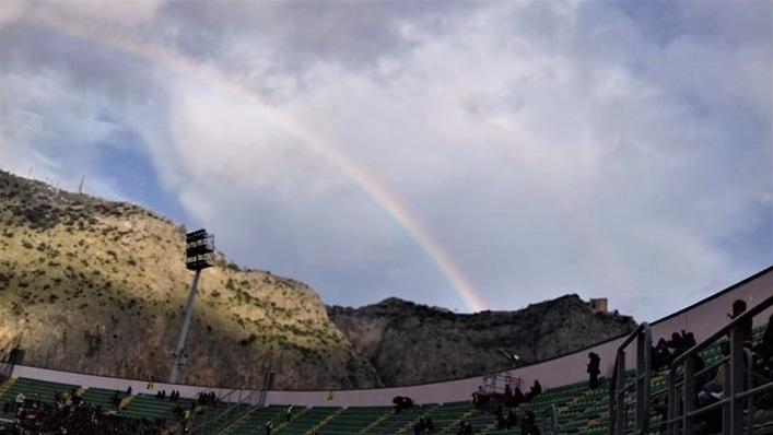 Palermo calcio e impegno sociale arcobaleno foto di Gabriele Bonafede M