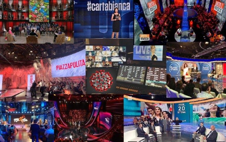 In TV dicevano coronavirus talk show collage 1