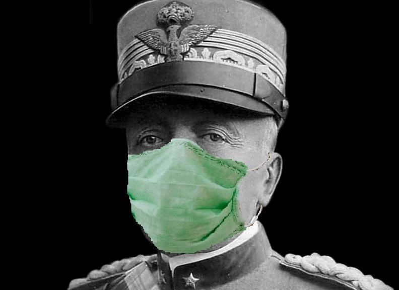 Cadorna con mascherina Italia sconfitta da se stessa M