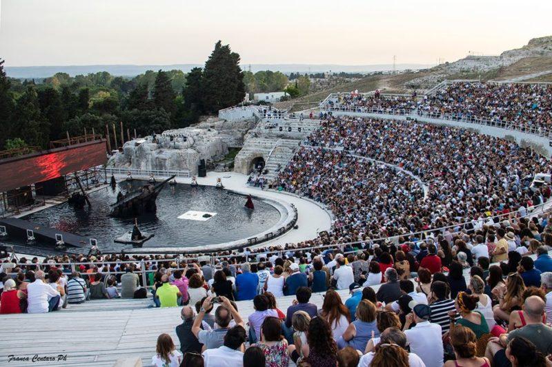 Teatro greco di Siracusa foto tratta da pagina FB della Fondazione Inda 1