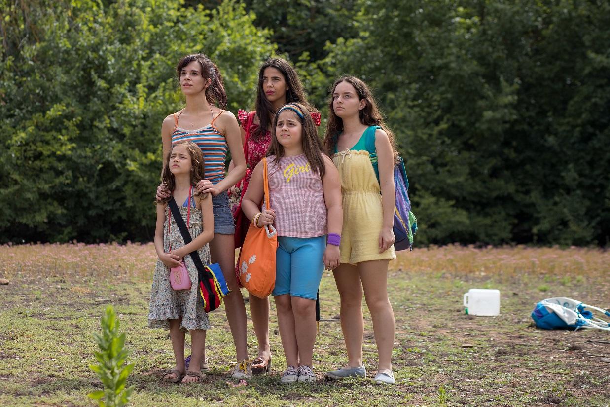 Le cinque sorelle da giovani.