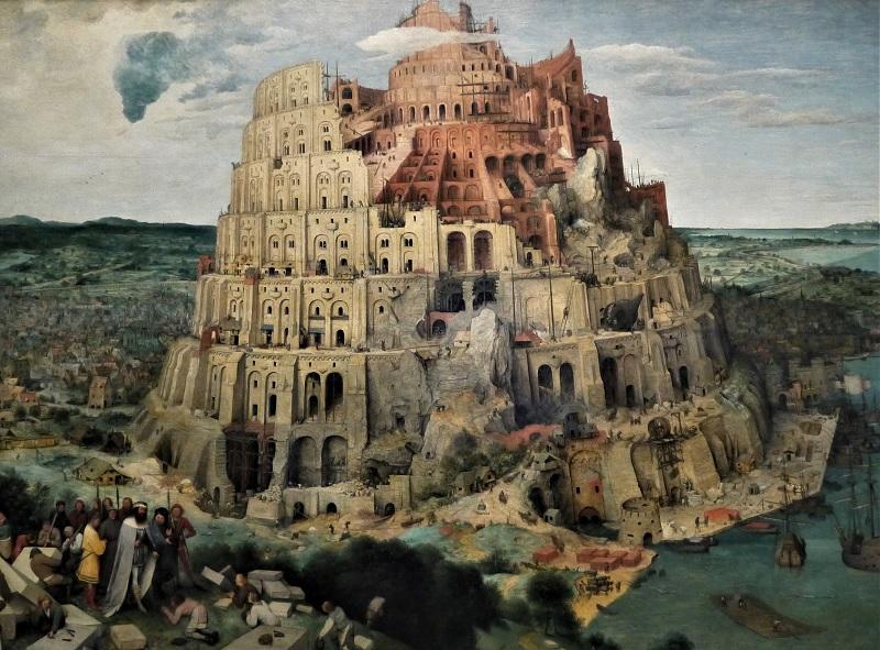 La Torre di Babele dipinto di Pieter Bruegel il Vecchio GN M 2
