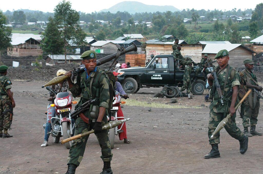 Les FARDC et la MONUSCO renforcent leur présence à l'intérieur de Goma et ses environnants suite à un deuxième jour 921 mai 2013) de combats entre le M23 et les forces nationales de défense..© MONUSCO/Clara Padovan