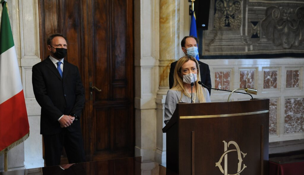 Opposizione a governo Draghi Giorgia Meloni M