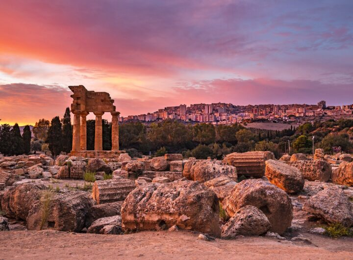 Goethe and Agrigento Sicily Photo today