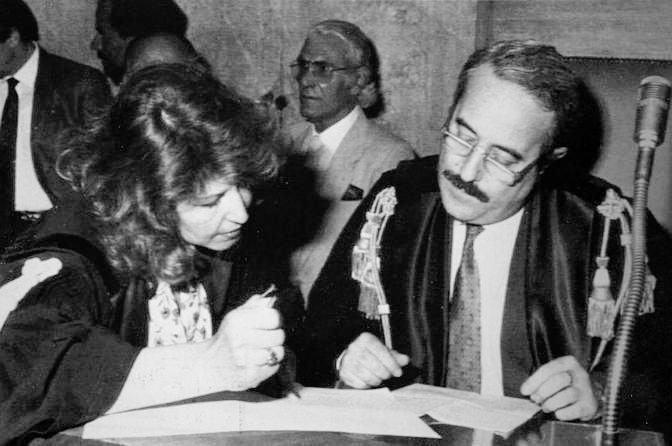 Judge Giovanni Falcone and his wife Francesca Morvillo