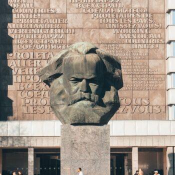 Karl Marx monumento Chemnitz Germania
