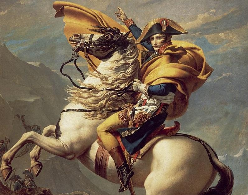 Napoleone Bonaparte dipinto di David duecento anni dalla morte 1